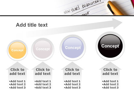 New Year Resolutions PowerPoint Template Slide 13