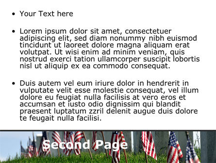 Memorable Events PowerPoint Template, Slide 2, 08686, America — PoweredTemplate.com