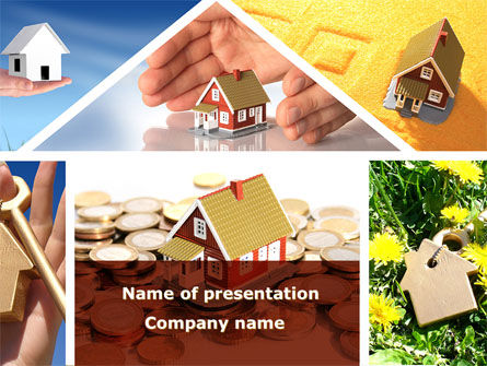 Private Houses PowerPoint Template, 08687, Careers/Industry — PoweredTemplate.com