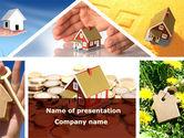 Careers/Industry: Modèle PowerPoint de maisons privées #08687
