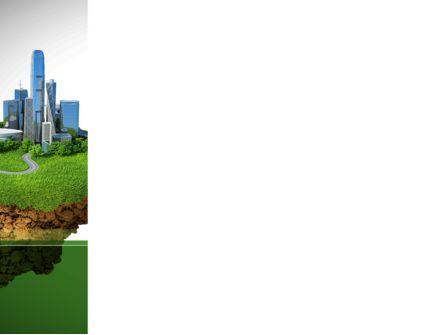Green Downtown PowerPoint Template, Slide 3, 08688, Construction — PoweredTemplate.com