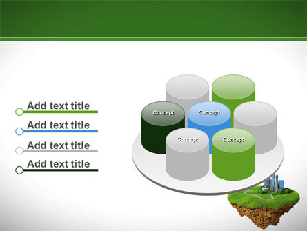Green Downtown PowerPoint Template Slide 12