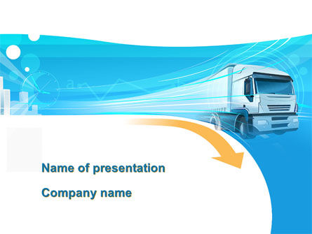 Cars and Transportation: Trucker PowerPoint Template #08690