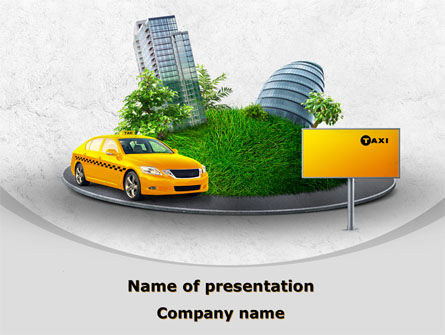 Cars and Transportation: Metropolitan Taxi PowerPoint Template #08691