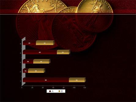 Golden Dollars PowerPoint Template Slide 11