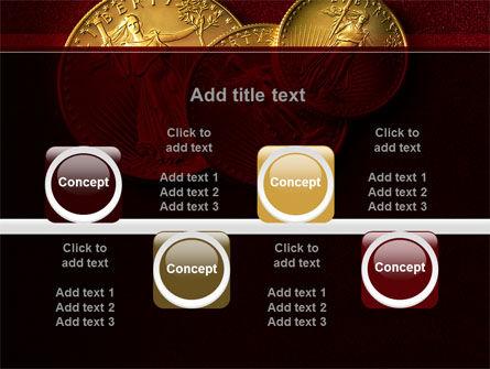 Golden Dollars PowerPoint Template Slide 18