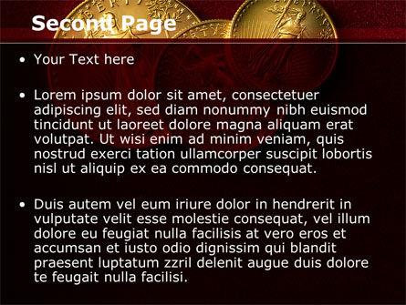 Golden Dollars PowerPoint Template, Slide 2, 08693, Flags/International — PoweredTemplate.com