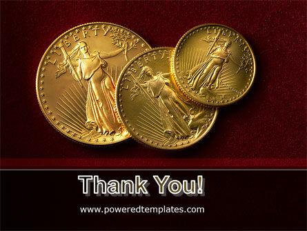 Golden Dollars PowerPoint Template Slide 20