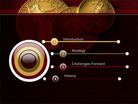 Golden Dollars PowerPoint Template Slide 3