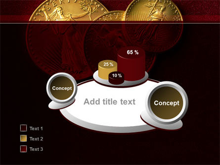 Golden Dollars PowerPoint Template Slide 6