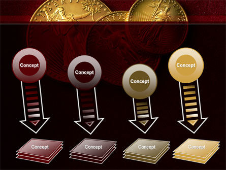 Golden Dollars PowerPoint Template Slide 8