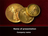 Flags/International: Golden Dollars PowerPoint Template #08693
