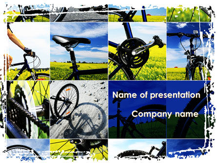 Sports: Summer Cyclist Tour PowerPoint Template #08694
