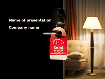 Homelike Hotel PowerPoint Template, 08698, Careers/Industry — PoweredTemplate.com