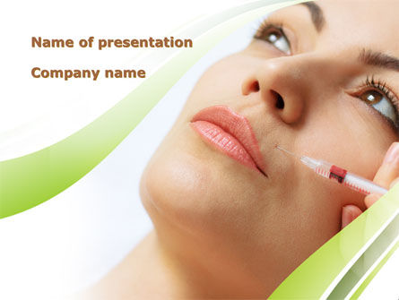 Careers/Industry: Botox Therapy PowerPoint Template #08701