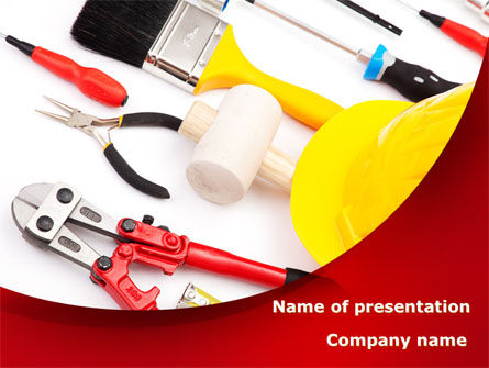 Instruments For Construction PowerPoint Template, 08702, Utilities/Industrial — PoweredTemplate.com