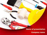 Utilities/Industrial: Instruments For Construction PowerPoint Template #08702