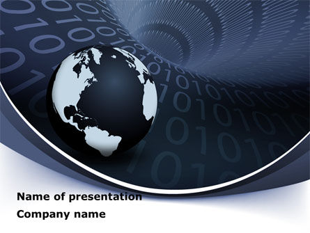 Global Data Links PowerPoint Template, 08703, Global — PoweredTemplate.com
