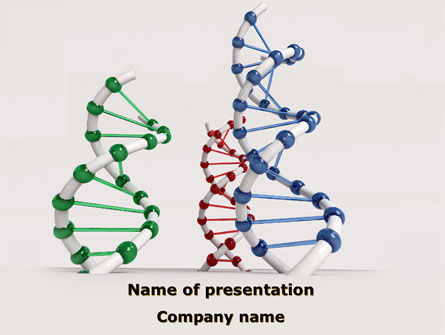 Plastic DNA Model PowerPoint Template