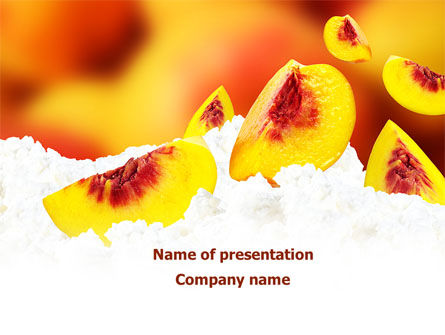 Food & Beverage: Peach Slices PowerPoint Template #08705