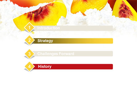 Peach Slices PowerPoint Template, Slide 3, 08705, Food & Beverage — PoweredTemplate.com