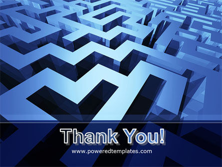 Blue Labyrinth PowerPoint Template Slide 20