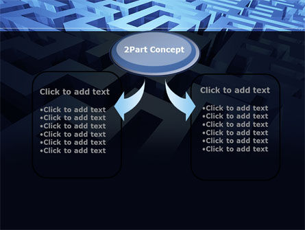 Blue Labyrinth PowerPoint Template Slide 4