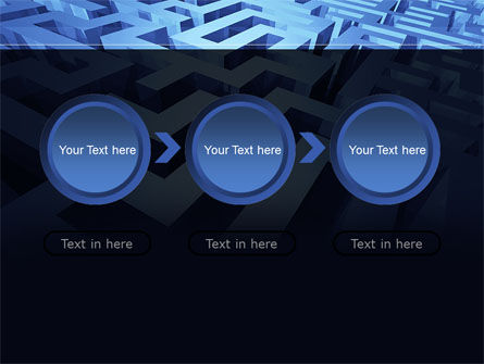 Blue Labyrinth PowerPoint Template Slide 5
