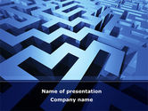 Consulting: Blue Labyrinth PowerPoint Template #08706