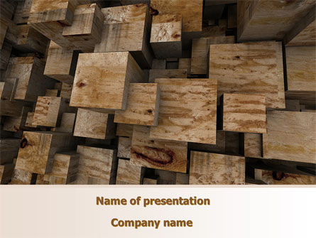 Abstract Marble Cubes PowerPoint Template