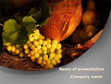 Food & Beverage: Food Basket PowerPoint Template #08710