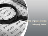 Financial/Accounting: Investments Search PowerPoint Template #08711