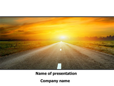 Sunset Way PowerPoint Template