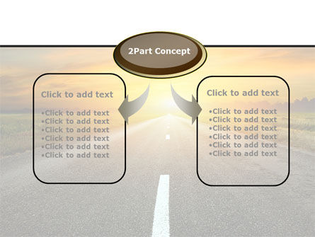 Sunset Way PowerPoint Template Slide 4