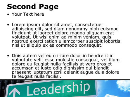 Leadership Training PowerPoint Template, Slide 2, 08714, Consulting — PoweredTemplate.com