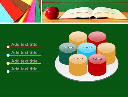 School Stationery For Learning Process PowerPoint Template Slide 12