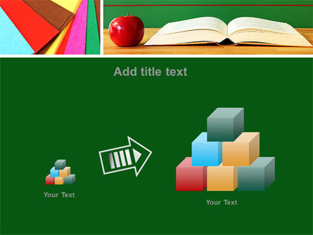 School Stationery For Learning Process PowerPoint Template Slide 13