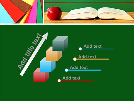 School Stationery For Learning Process PowerPoint Template Slide 14