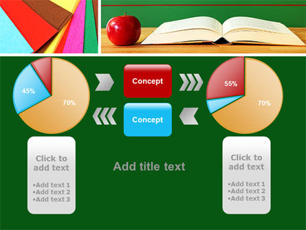 School Stationery For Learning Process PowerPoint Template Slide 16