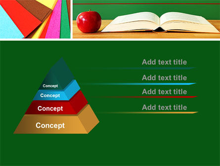 School Stationery For Learning Process PowerPoint Template, Slide 4, 08715, Education & Training — PoweredTemplate.com