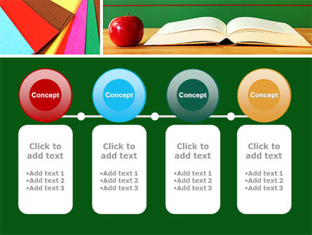 School Stationery For Learning Process PowerPoint Template Slide 5