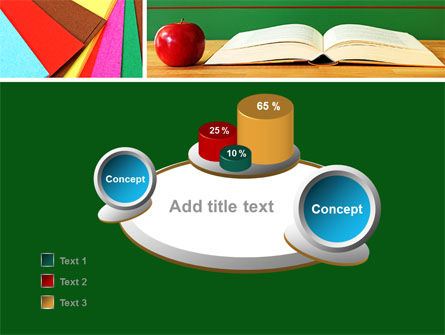 School Stationery For Learning Process PowerPoint Template Slide 6