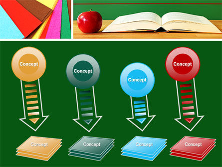 School Stationery For Learning Process PowerPoint Template Slide 8