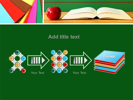 School Stationery For Learning Process PowerPoint Template Slide 9