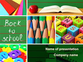 Education & Training: School Stationery For Learning Process PowerPoint Template #08715