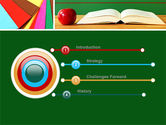 School Stationery For Learning Process PowerPoint Template#3