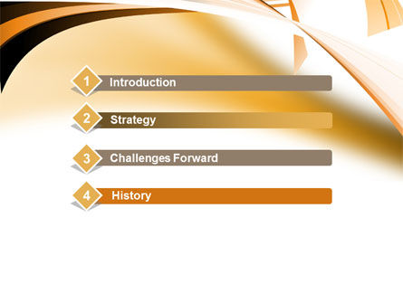 Abstract Light Brown Stripes PowerPoint Template Slide 3