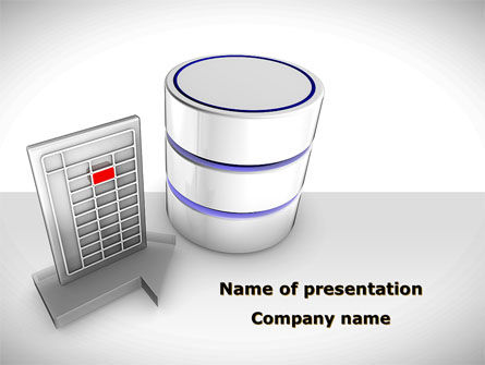 Database Development PowerPoint Template, 08722, Technology and Science — PoweredTemplate.com