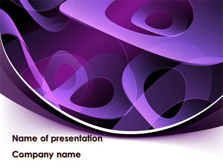 Abstract/Textures: Purple Circles PowerPoint Template #08726