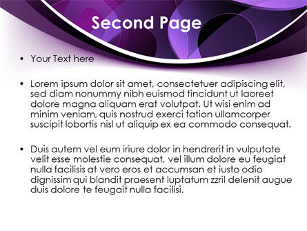 Purple Circles PowerPoint Template Slide 2